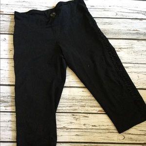 Champion Black workout capri pants women's Large
